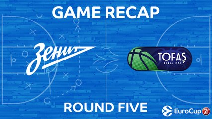 7Days EuroCup Highlights Regular Season, Round 5: Zenit 84-82 Tofas Bursa