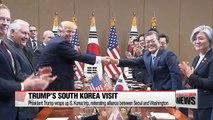 Trump wraps up S. Korea trip, reiterating alliance between Seoul and Washington