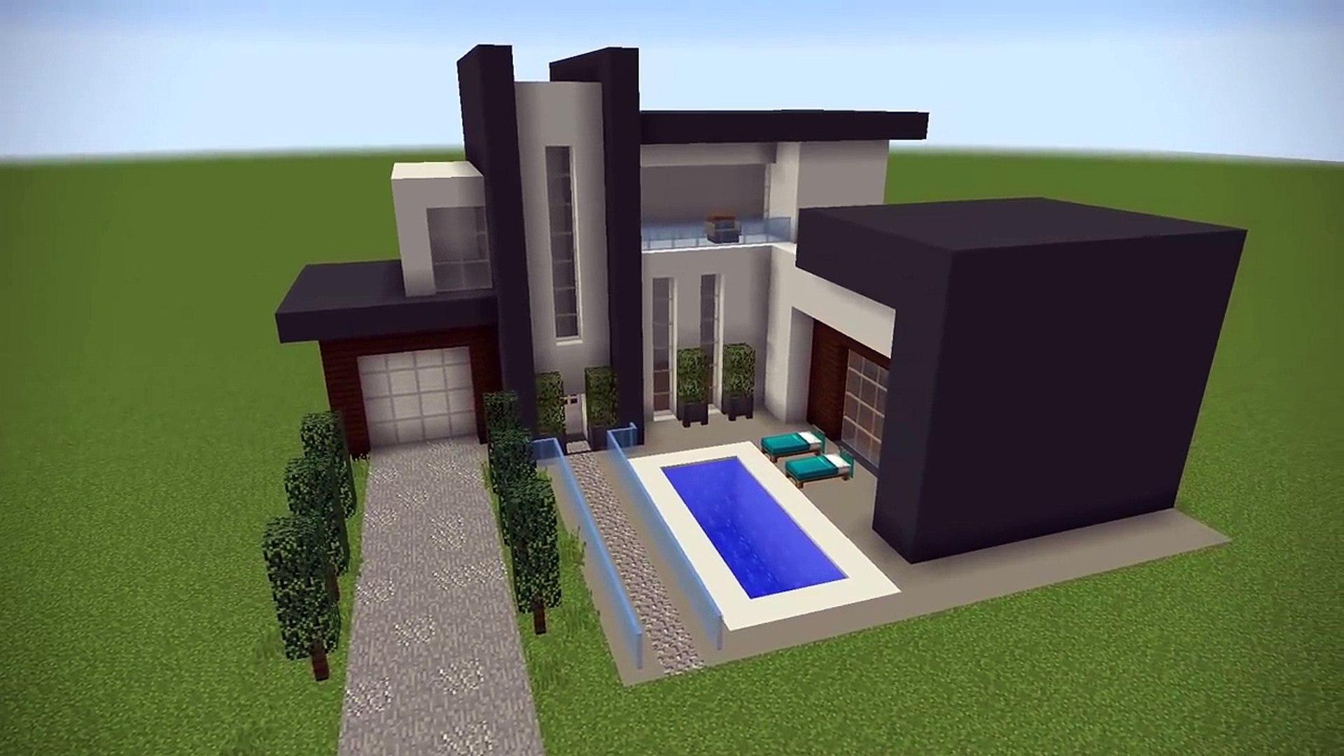 12 Easy Steps To Make A Minecraft Modern House - Vidéo Dailymotion