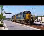 [AMTRAK]831 GE P40DC,190 GE 42DC,814 GE P40DC Leads P053-28 SB In Fay NC On The # 2 Track