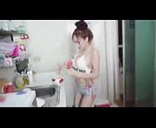 BJ show cooking food and dance sexy so cute BJはセクシ�