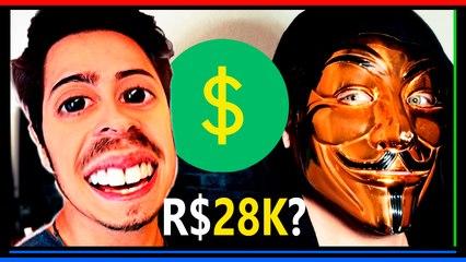 ◉ Castanhari GASTA 28 MIL- Como os Youtubers ganham MUITO DINHEIRO $ fora o ADSENSE