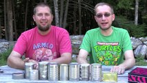 Tin Can Challenge! Whats Inside the Mystery Cans!? Gross! | Whats Ryan Tryin | Bins Toy Bin