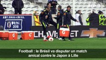 Football: entraînement du Brésil avant l'amical face au Japon