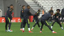 Football: entraînement du Brésil avant l'amical face au Japon