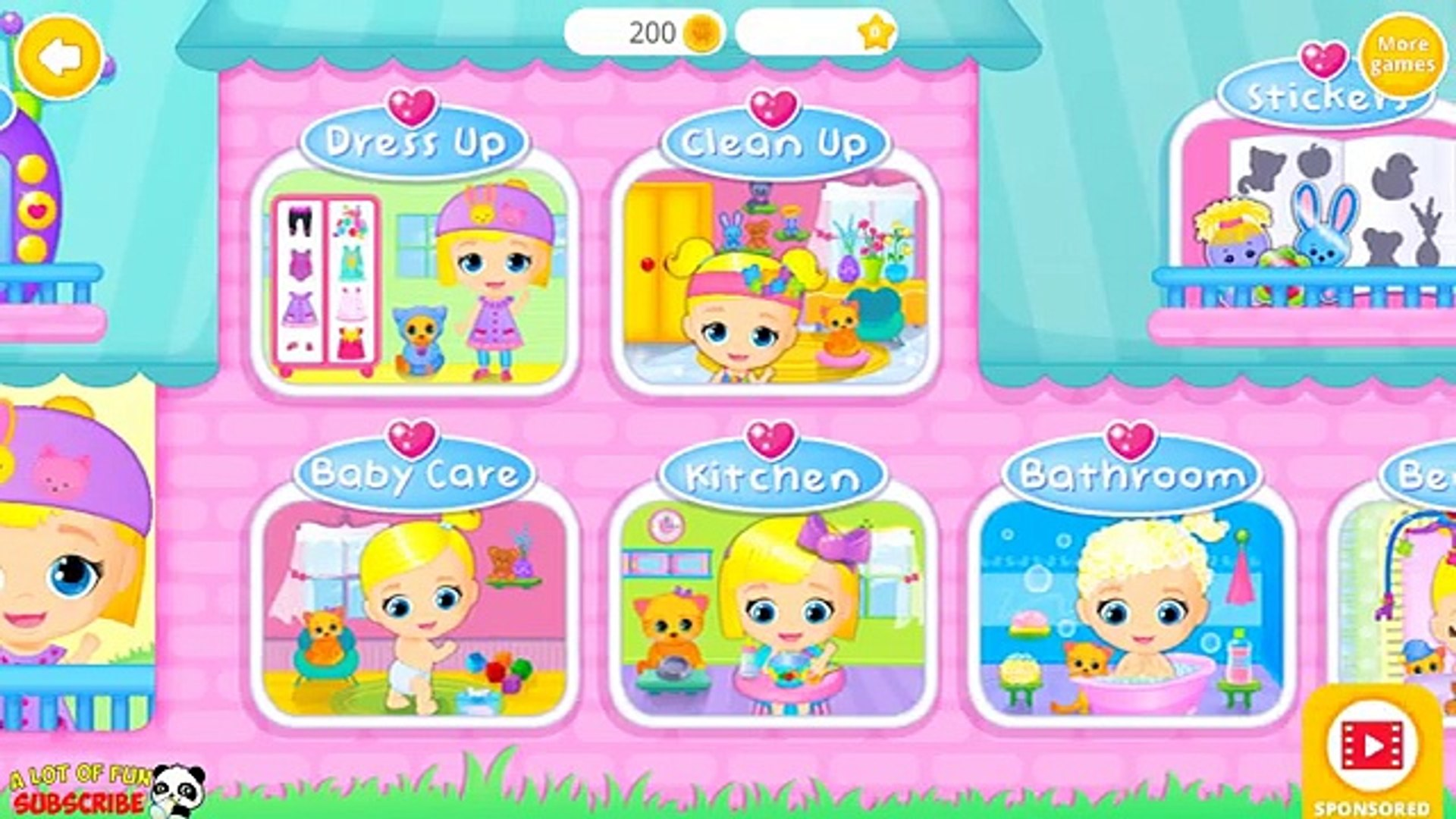 Baby Doll House: Fun Baby and Pet Care - Bath, Dress Up Kids Games