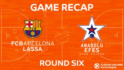 EuroLeague 2017-18 Highlights Regular Season Round 6 video: Barcelona 85-89 Efes