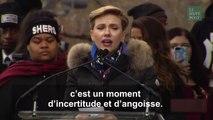 Le discours très applaudi de Scarlett Johansson contre  les conséquences dévastatrices  de la politique de Trump