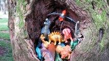 Dinossauros - Dinosaurs Toys - Dinosaurios - Dino Toys - Casa dos Dinossauros Caverna na Árvore 2017