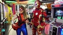 Iron Man vs Spiderman Arcade Battle In Real Life _ Superhero Movie! | Superheroes | Spiderman | Superman | Frozen Elsa | Joker