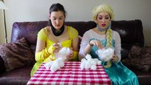 Frozen Elsa & Belle COTTON BALL CHALLENGE w_ Spiderman Maleficent Toy Fun Superhero in real life IRL | Superheroes | Spiderman | Superman | Frozen Elsa | Joker