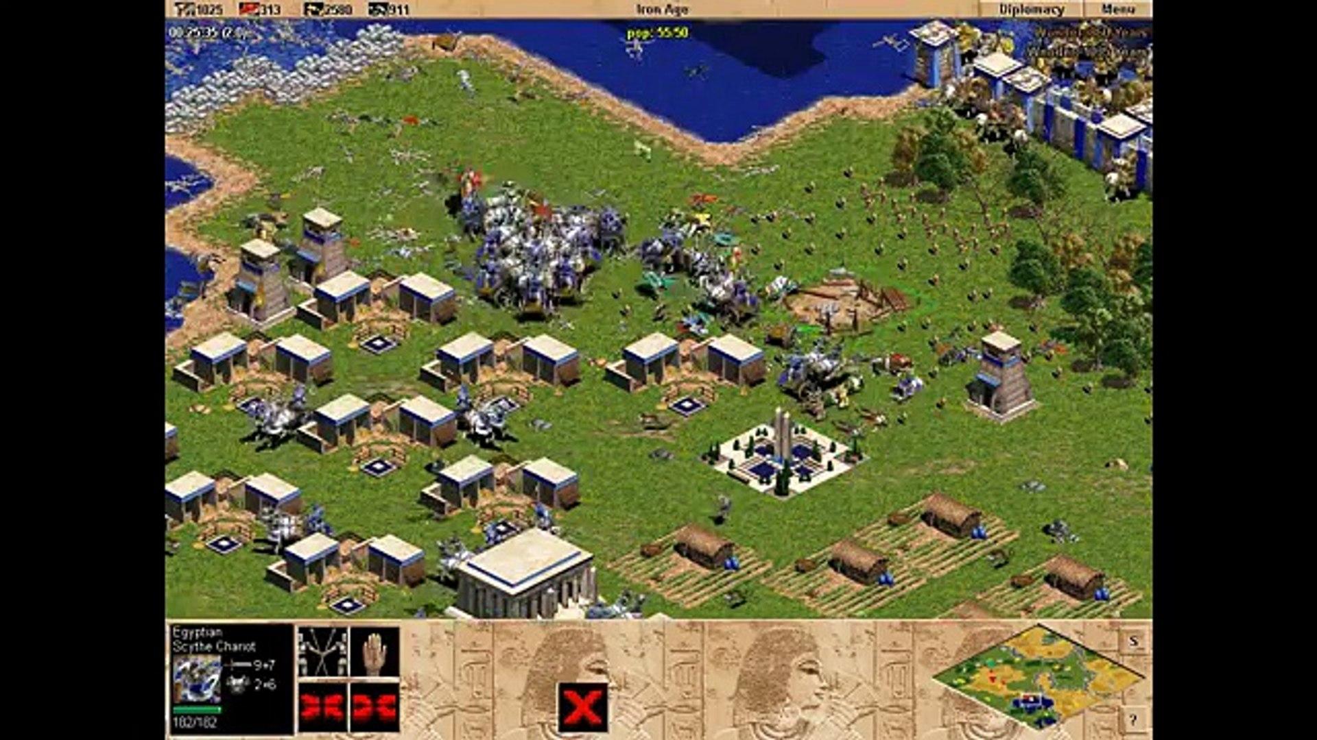 Egypt vs 7 Hardest Yamatos. Random map battle. Age of Empires. Rise of Rome