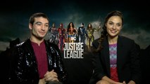 Gal Gadot and Ezra Miller Have Fun In 'Justice League'