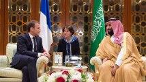 Macron rencontre pour la première fois Mohamed ben Salman, prince d'Arabie saoudite
