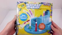 How To Make Rainbow Colors Markers Pen Your Own Colors Markers Crayola Marker Maker Play