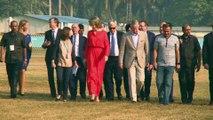 Les souverains initiés au cricket à Mumbai