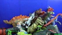 Box of Toys !!! Dinosaurs Jurassic World T -REX, VELOCIRAPTOR, SPINOSAURUS..Whats in the box?