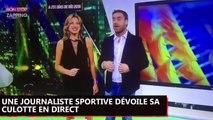 Une journaliste sportive sexy dévoile sa culotte en direct à la télé par inadvertance (Vidéo)