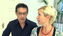 La comédienne Rebecca HAMPTON et le directeur de production Serge LADRON de GUEVARA