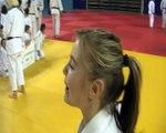 Un échange entre Automne Pavia et Andréa une judokate martégale de 17 ans