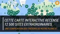 Cette carte interactive recense 12 500 sites extraordinaires