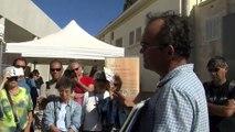 Une trentaine de personnes ont suivi la visite commentée du site de Tholon ce matin