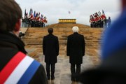 Discours du Président de la République, Emmanuel Macron, lors de l'inauguration de l'Historial franco-allemand de la Guerre 14-18 du Hartmannswillerkopf en présence de Frank-Walter Steinmeier, Président de la République fédérale d'Allemagne à Co