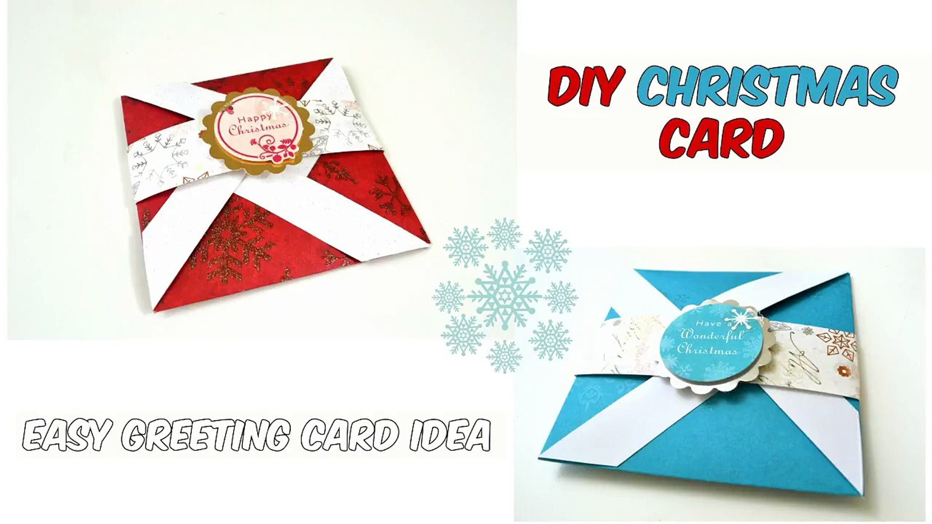 Christmas Card Greeting Idea.Diy Christmas Card 1 Easy Greeting Card Ideas Paper Crafts By Giulia S Art