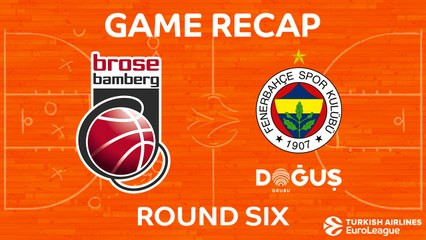 EuroLeague 2017-18 Highlights Regular Season Round 6 video: Bamberg 57-80 Fenerbahce