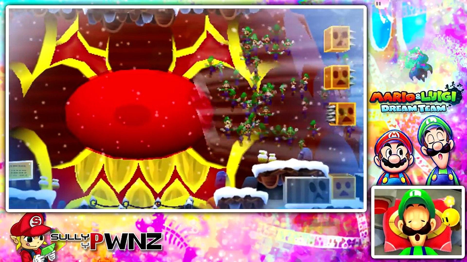 Mario Luigi Dream Team Part 37 Mount Pajamaja Boss Battle