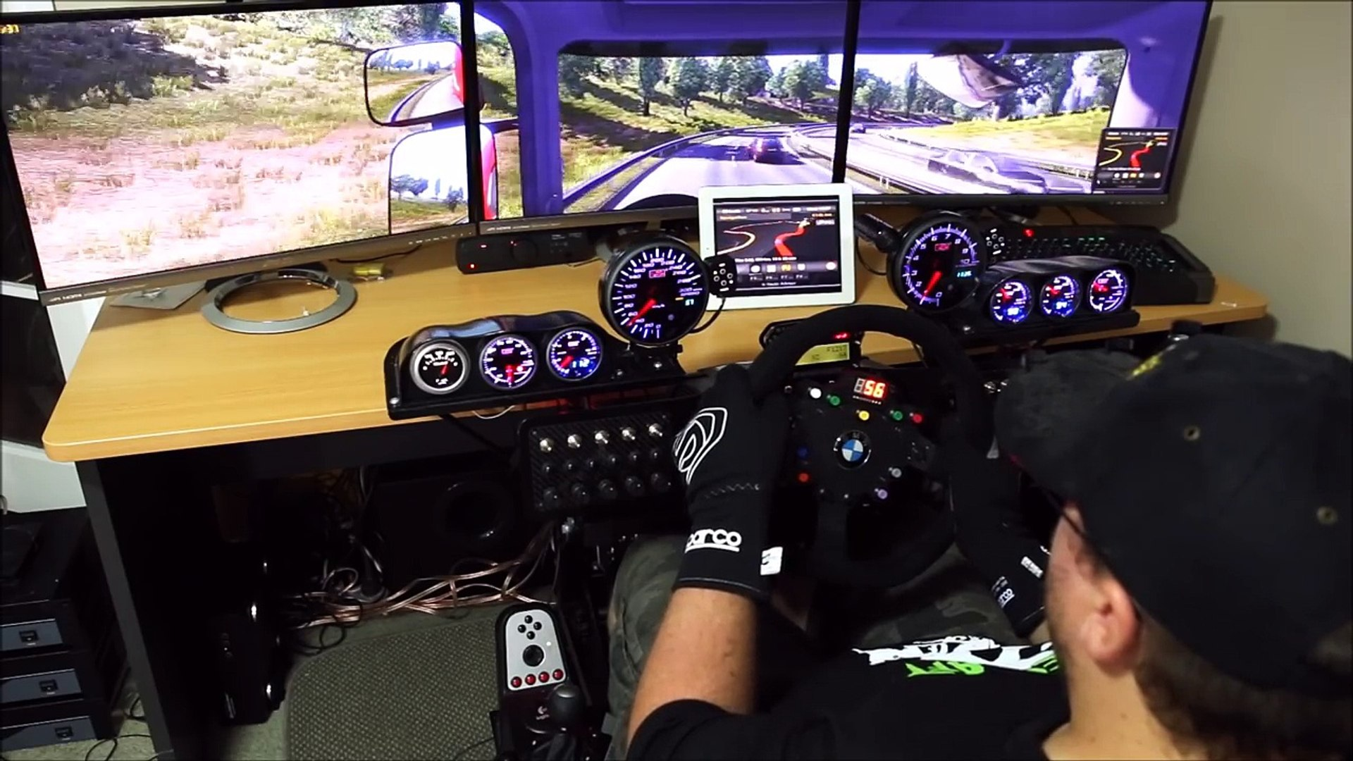 Euro Truck Simulator 2 GPS running on iPad and external monitor - Plus  digger delivery