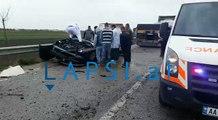Mermeri bie nga kamioni dhe godet veturën në rrugën Lushnje-Berat