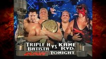 Kane & RVD vs Triple H & Batista w/ Ric Flair & Randy Orton (Batista Removes Kane's Mask)! 1/27/03