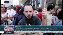 Trabajadores de Brasil evidencian masivo rechazo a reforma laboral
