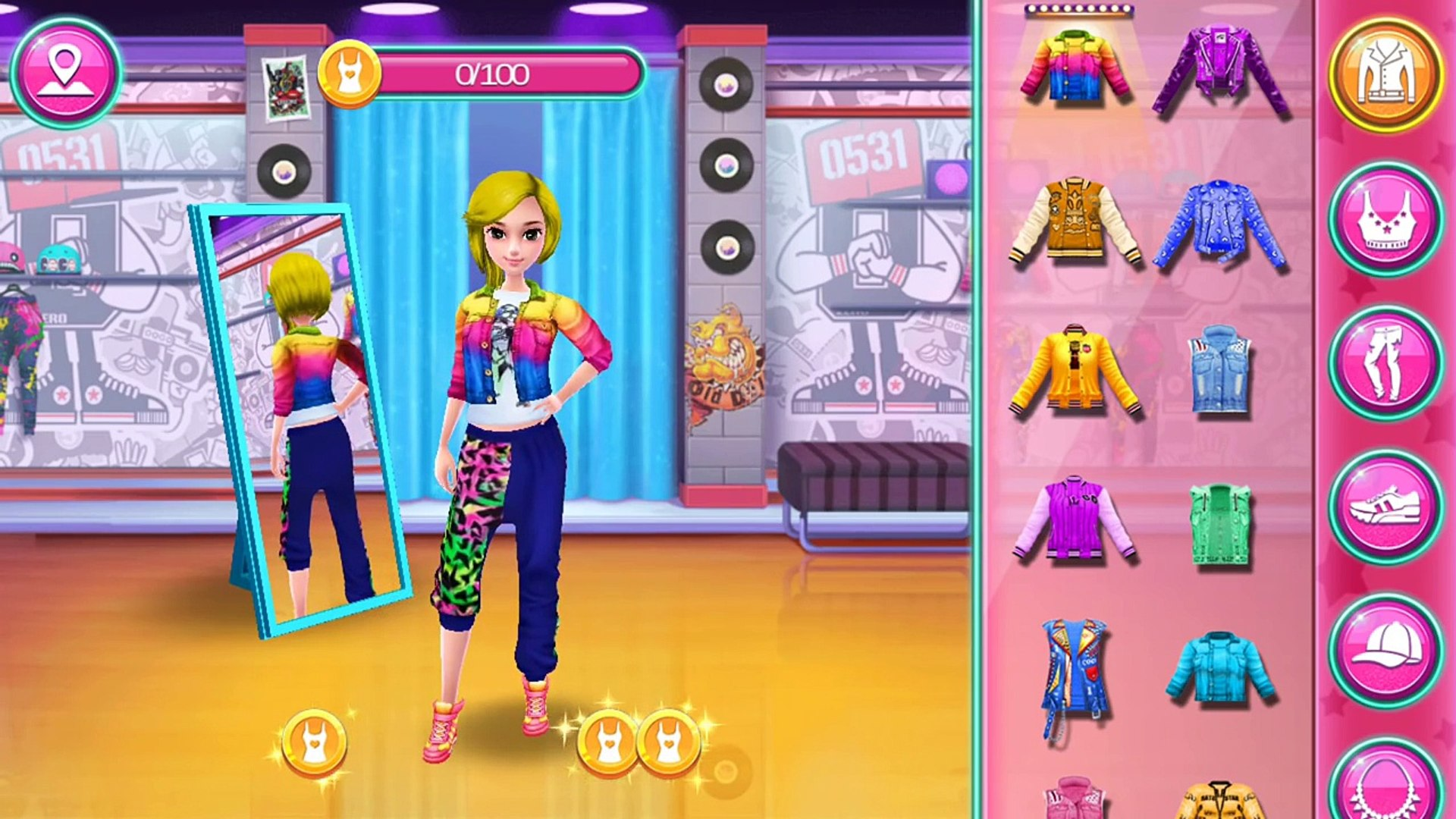 Hip Hop Dance School ☆ Spa makeup hairstyles dress up for hip hop dance ☆ Coco Play By TabTale