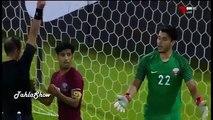 Irak vs Quatar Sub-19 Expulsan al portero en tanda de penales, jugador capitan toma su puesto para el penal es el héroe