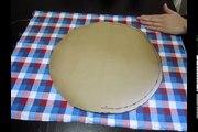 Da serie retalhos: Como fazer uma almofada redonda (molde + montagem)