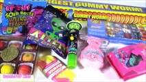 CANDY BONANZA! Worlds Biggest GUMMY WORM! Jelly BELLY! Sour Popsicle! Alien UFO & Ice Cream! FUN