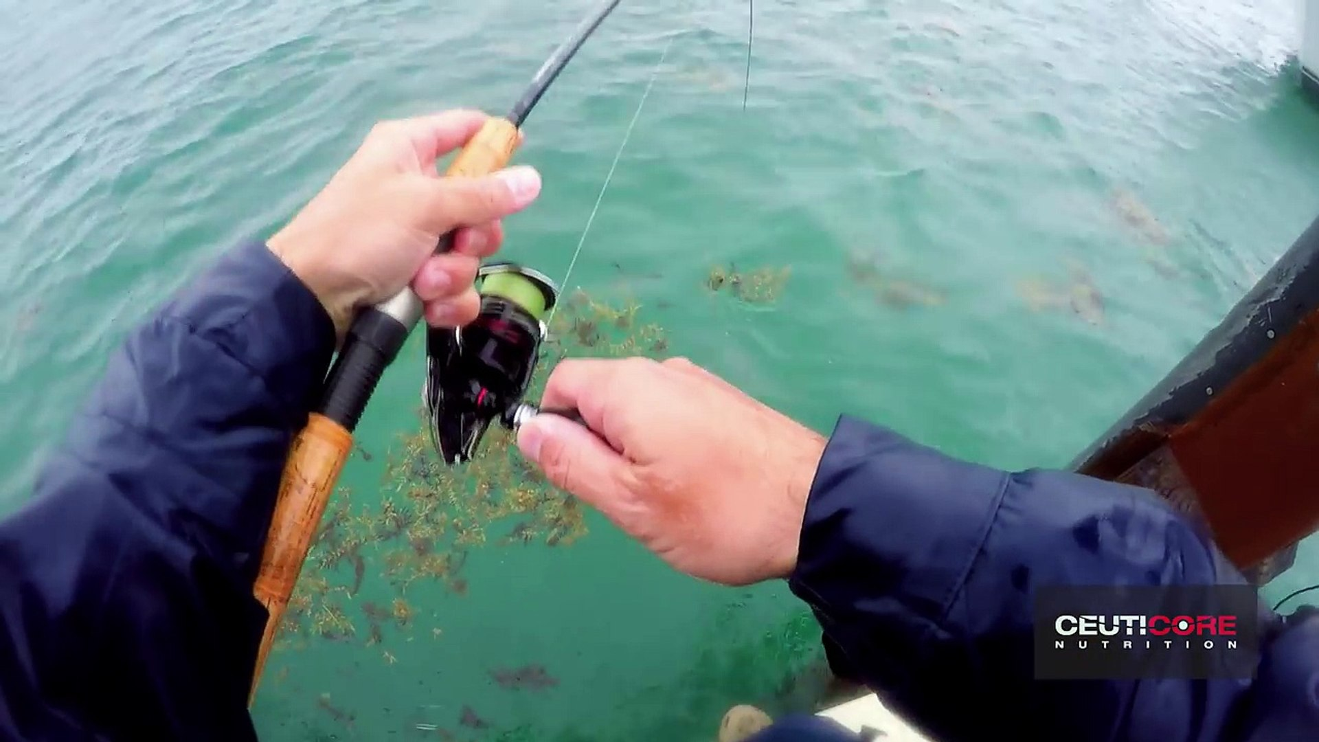 Fishing in Brutal Rain on the Docks, Catch N Cook