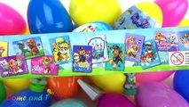 Super Surprise Eggs Kinder Joy Paw Patrol Peppa Pig Thomas Toys Learn Colors Pla