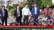 Gazipaşa'da Belediye Birim Amirlerine Makam Aracı Olarak Bisiklet Dağıtıldı