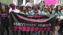 Une manifestation contre les violences sexuelles sur Hollywood Boulevard