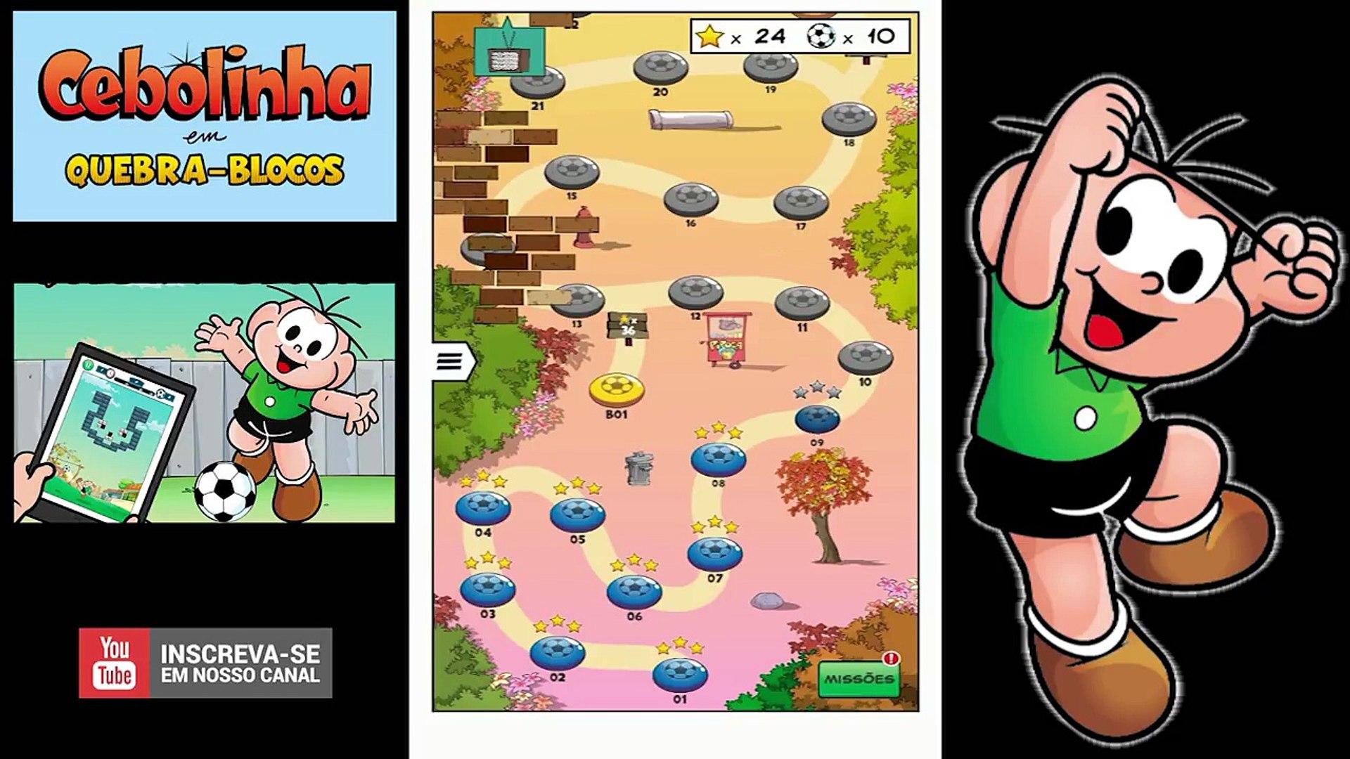 Cebolinha ⚽ Quebra-blocos ⚽ Gameplay Android ⚽
