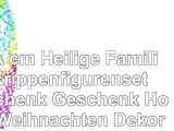 14cm Heilige Familie Krippenfigurenset Geschenk Geschenk Home Weihnachten Dekoration