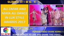 Ali Zafar and Maya Ali Dance in Lux Style Awards 2017