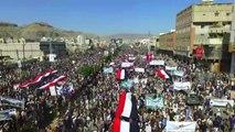 Yemen, imponenti cortei contro l'embargo imposto dai sauditi