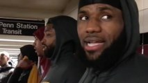 LeBron James Takes the NY Subway with Teammates, Fires Shots at Phil Jackson