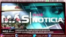 Amenazas del narcotráfico dejan sin clases a alumnos de México-Más Que Noticias-Video