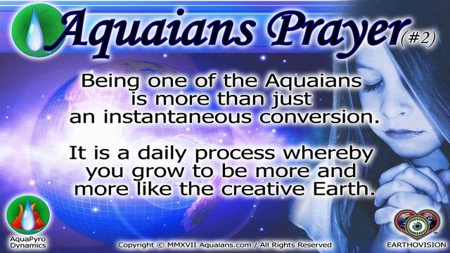 Aquaians Prayer #2