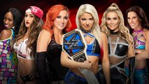 WWE Royal Rumble 2017 Becky Lynch, Nikki Bella & Naomi vs. Alexa Bliss, Mickie James and Natalya